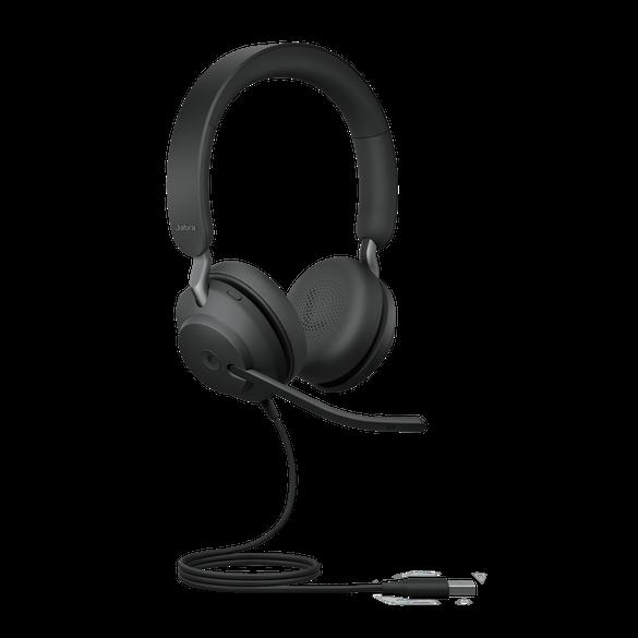 Jabra Evolve2 40 MS Stereo USB-A Headset schwarz