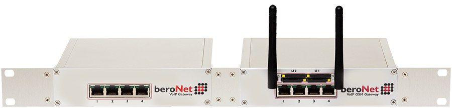 """beroNet 19"""" Rack VoIP SBC BNSBC-M (2 Boxen on 1U)"""
