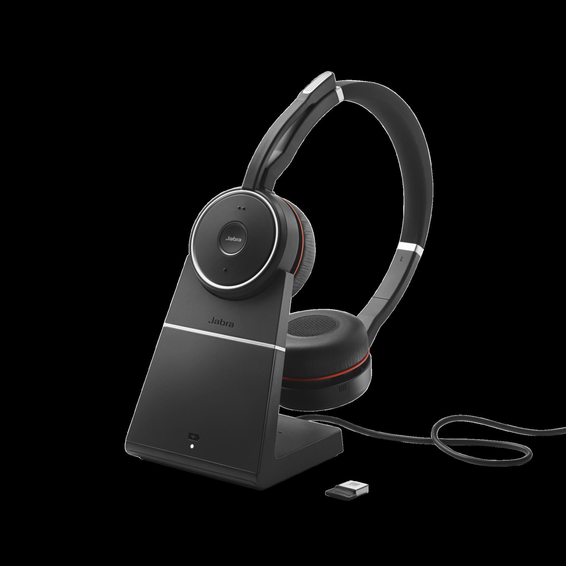 Jabra Evolve 75 MS Duo Headset inkl. Ladestation