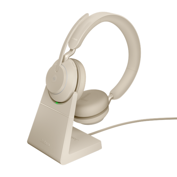 *Jabra Evolve2 65 MS Stereo BT USB-A Headset inkl. Ladestation beige