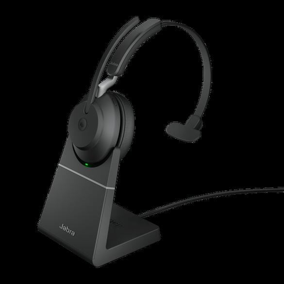 Jabra Evolve2 65 MS Mono BT USB-A Headset inkl. Ladestation schwarz