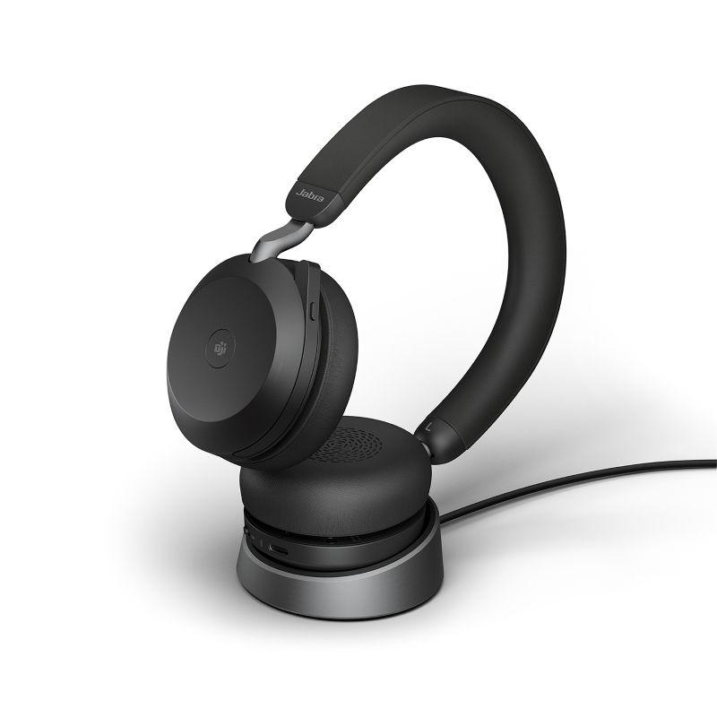 Jabra Evolve2 75 MS Stereo BT USB-C Headset inkl. Ladestation schwarz