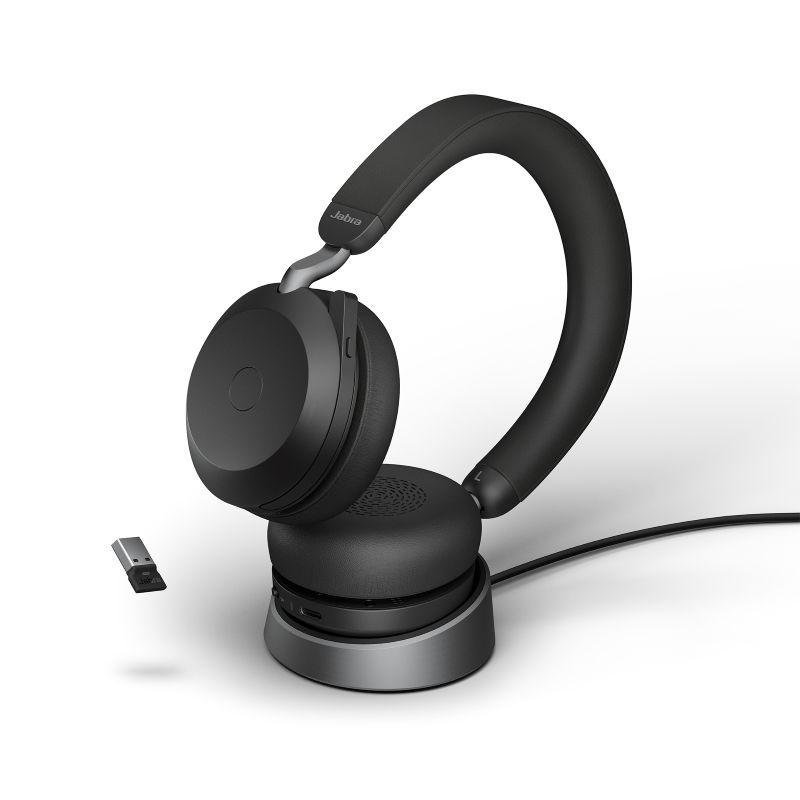 Jabra Evolve2 75 UC Stereo BT USB-A Headset inkl. Ladestation schwarz