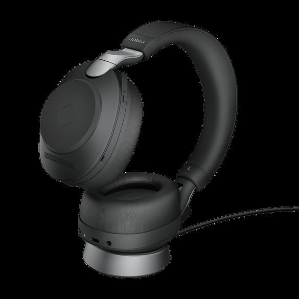 Jabra Evolve2 85 UC Stereo BT USB-C Headset inkl. Ladestation schwarz