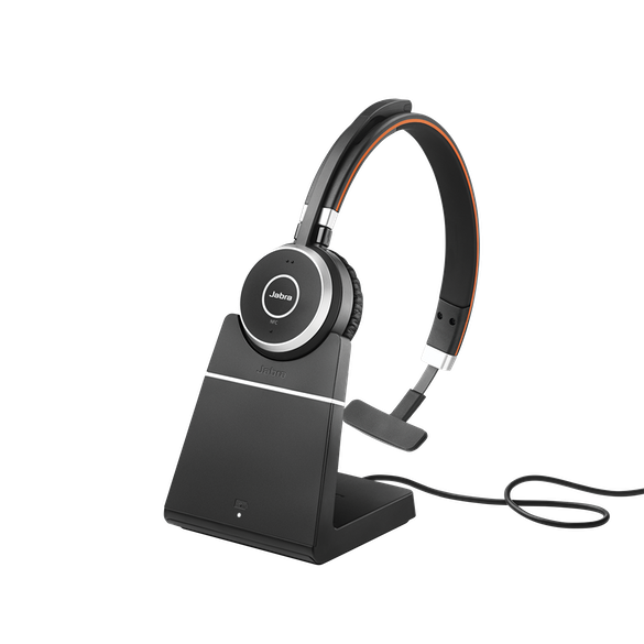 Jabra Evolve 65 UC Mono Headset inkl. Ladestation