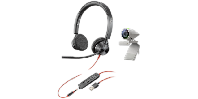 Poly Studio P5 USB HD Webcam Bundle mit Blackwire C3325 Headset