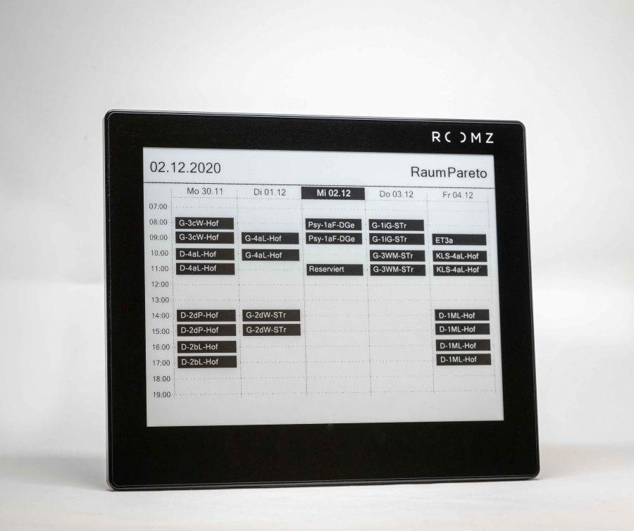 ROOMZ Display EDU glass BLACK inkl subscription 1 Jahr ROOM