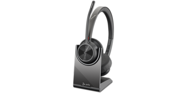 Poly Voyager 4320 UC-M BT USB-A Headset inkl. Ladestation