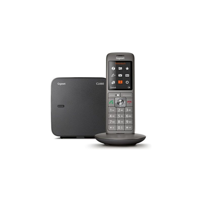 Gigaset CL660 grau DECT Mobilteil + Basisstation