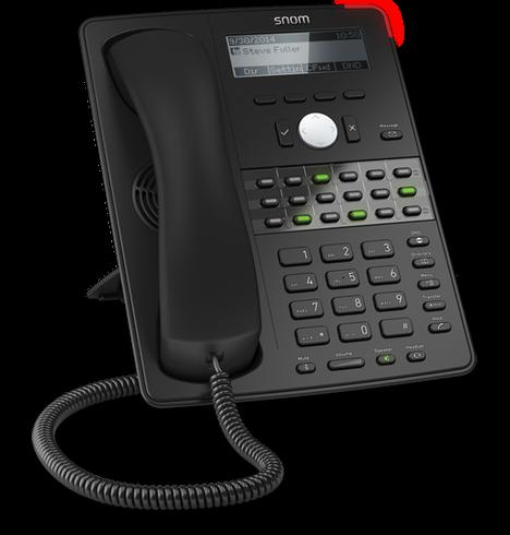 Snom D725 SIP schwarz Tischtelefon