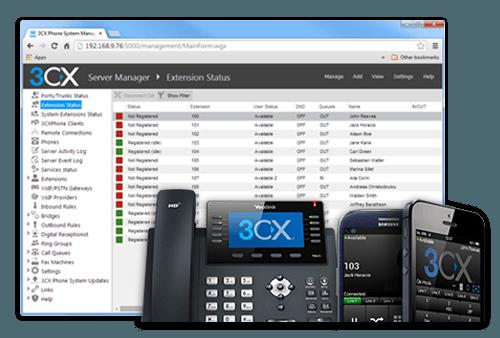 3CX UI - 16SC Maintenance