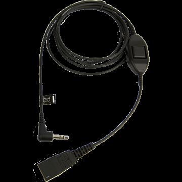 Jabra QD auf 3,5mm Klinke, Alcatel Anschlusskabel