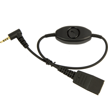 Jabra QD auf 2,5mm Klinke Cisco Adapterkabel
