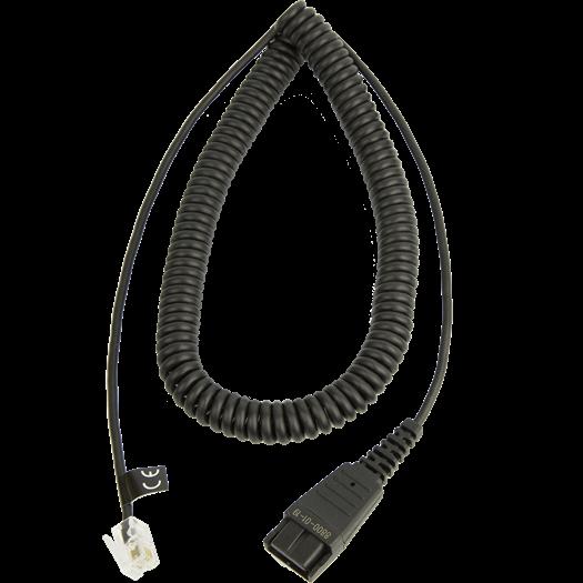 Jabra QD auf RJ9, Nortel Spiralkabel