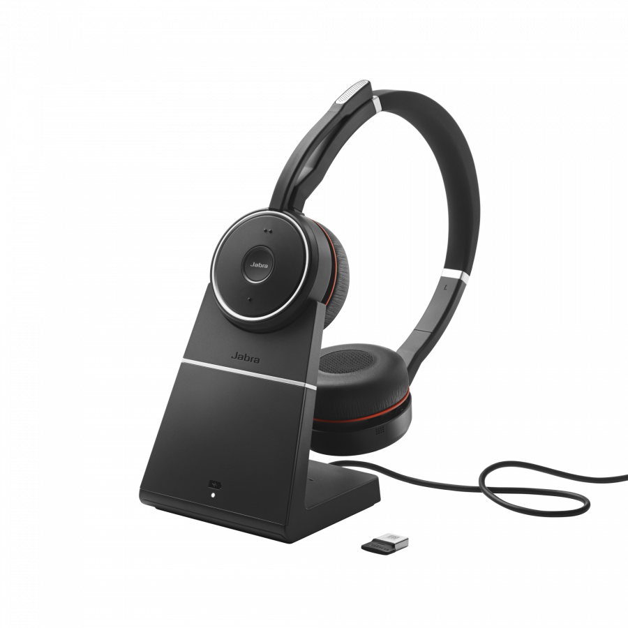 Jabra Evolve 75 MS Duo Headset inkl. Ladestation