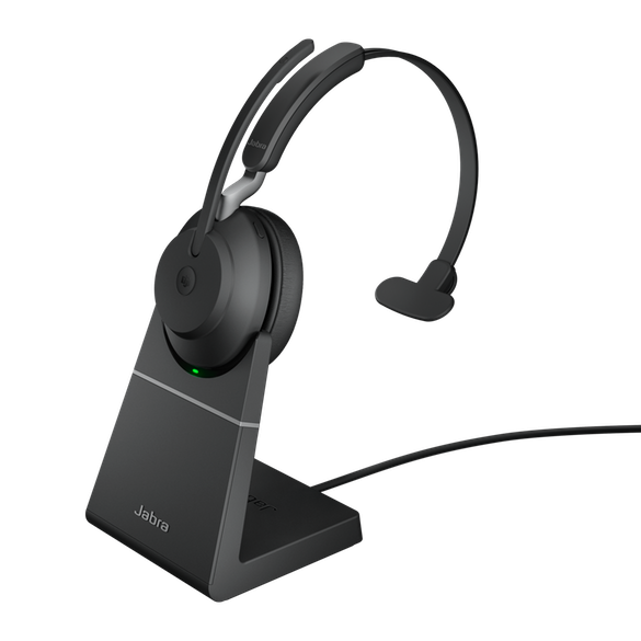 Jabra Evolve2 65 MS Mono BT USB-A Headset inkl. Ladestation schwarz