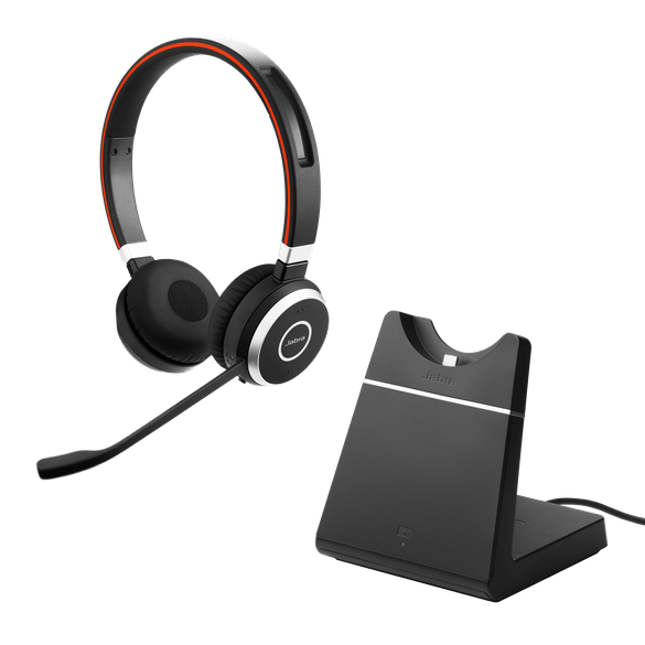 Jabra Evolve 65 MS Duo Headset inkl. Ladestation