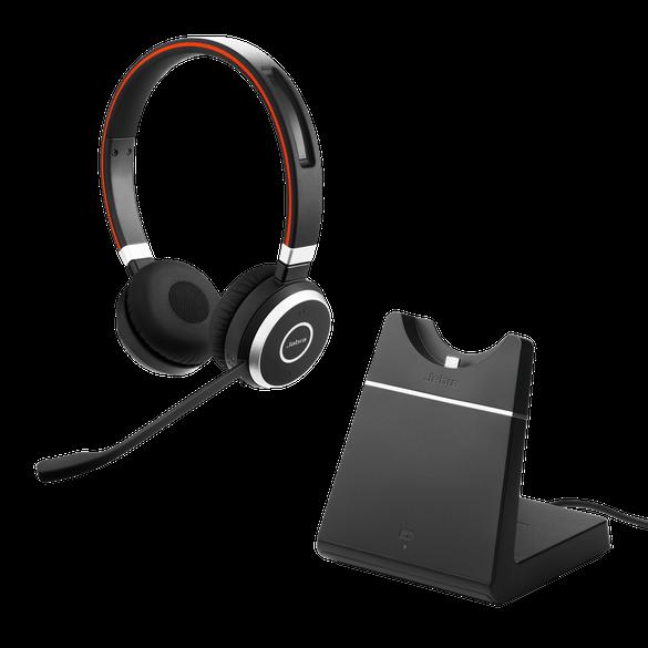 Jabra Evolve 65 UC Duo Headset inkl. Ladestation