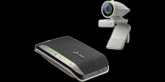 Poly Studio P5 USB HD Webcam Bundle mit Sync 20 Plus Speakerphone