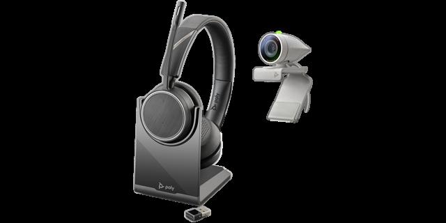 Poly Studio P5 USB HD Webcam Bundle mit Voyager 4220 Headset