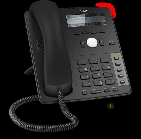Snom D712 SIP schwarz Tischtelefon