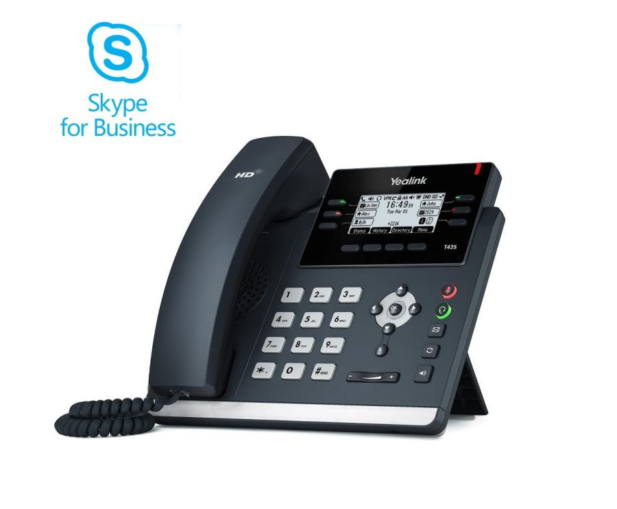 Yealink T42S SIP Skype for Business Telefon