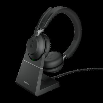 Jabra Evolve2 65 MS Stereo BT USB-C Headset inkl. Ladestation schwarz