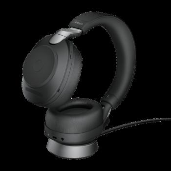 Jabra Evolve2 85 UC Stereo BT USB-A Headset inkl. Ladestation schwarz
