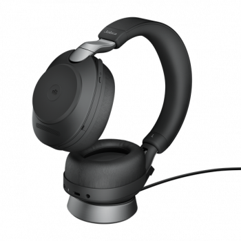 Jabra Evolve2 85 MS Stereo BT USB-A Headset inkl. Ladestation schwarz