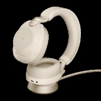 Jabra Evolve2 85 MS Stereo BT USB-A Headset inkl. Ladestation beige
