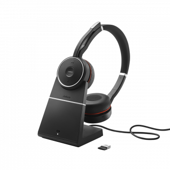 Jabra Evolve 75 UC Duo Headset inkl. Ladestation